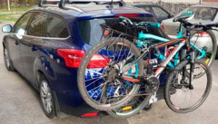 Велокрепление Thule Xpress 970 перевозит целых два велосипеда за раз